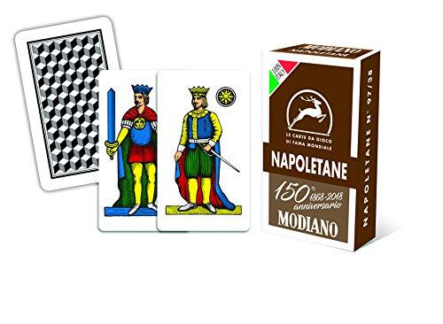 Modiano 300082 Spielkarten zum 150-jährigen Jubiläum, Neapolitane Braun
