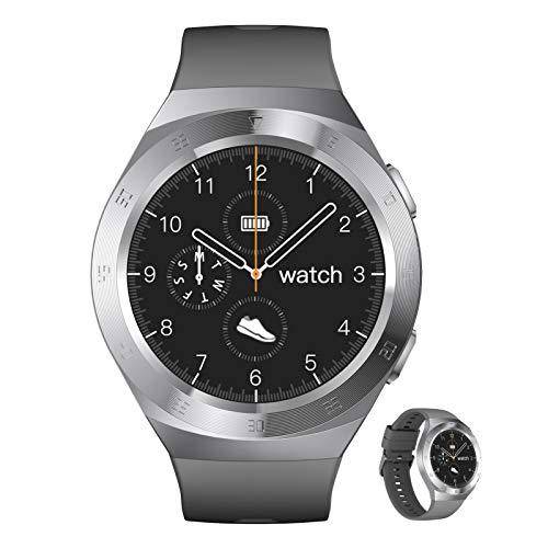 BNMY Smartwatch Reloj Inteligente con Pulsómetro,Cronómetros,Calorías,Monitor De Sueño,Podómetro Monitores De Actividad Impermeable IP68 Smartwatch Hombre Reloj Deportivo para Android iOS,D