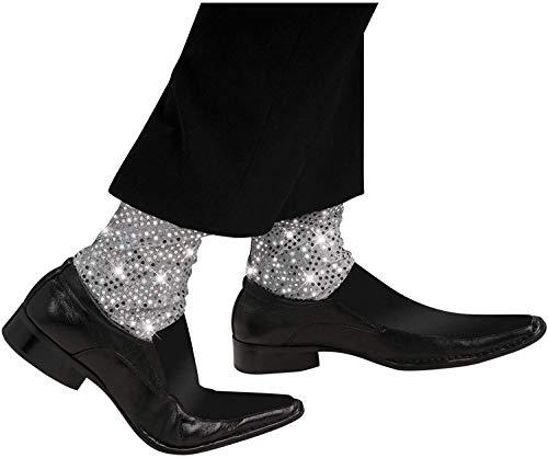 Mickael Jackson–i-9735–Zubehör Kostüm–Socken Kinder silberner–Mickaël Jackson