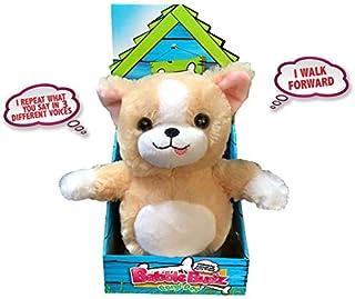 Mindscope Babble Budz Mimicking Animatronic Furry Friends Plush Toy with 3 Voice Filters (Corgi Dog)