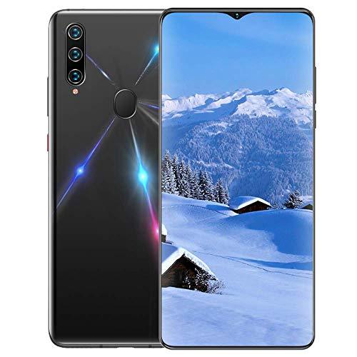 A91 Smartphone ohne Vertrag, 4G LTE 6,7 Zoll Smartphone, 8GB RAM+512GB ROM, 4680mAh Akku, 13MP+8MP Kamera, Dual SIM Handy Android 9.0, WLAN, Fingerabdruck, Face ID-Schwarz