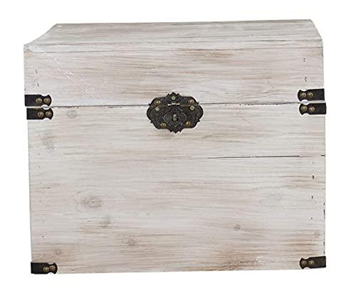 1x braune Holzbox mit Deckel   45x35x35 cm   Neu   schöne Metallbeschläge veredeln die Truhe, Stauraum für Deko, Bilder, Filme - 2