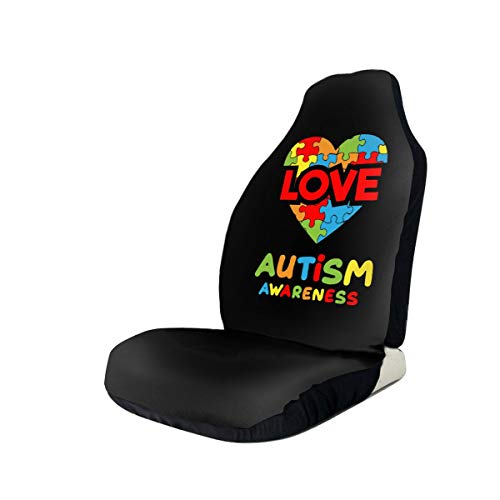 Car Seat Cover Autism Awareness Hands in Heart 100% Waterproof Sweat Proof Car & Truck Seat Cover Protector