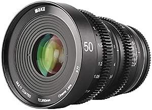 MEKE 50mm T2.2 Manual Focus Low Distortion 4K Mini Cine Lens Compatible with Fujifilm X Mount Cameras X-T3 X-T20 X-T10 X-T2 X-T4 X-Pro2 X-E3 X-T1 X-A