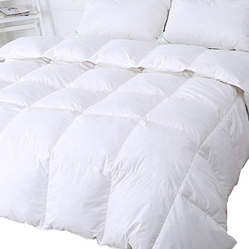 Luxury Goose Feather & Down Duvet Single Size, 13.5 Tog Quilt, 100% Cotton Shell, Anti Dust Mite & Down Proof