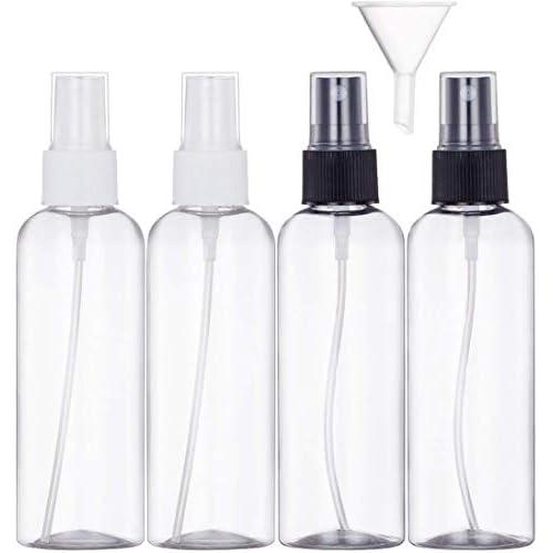Bottiglie Spray Trasparente Plastic Fine Nebbia Bottiglia Set da Viaggio,4 Pezzi (100 ML)