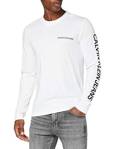 Calvin Klein Jeans Herren Essential Instit Ls Tee Hemd, Bright White, L