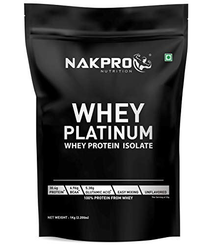 NAKPRO PLATINUM 100% Whey Protein Isolate