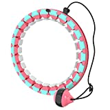 Weighted Hula Exercise Hoops for Adults Weight Loss Home Exercise and Fitness Equipment, Smart Weighted Hoop with 360° Massage and 24 Adjustable Sections