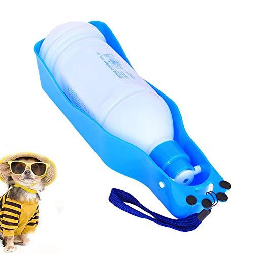 YuoungYuan Trinkflasche Hunde für Unterwegs Trinkflasche Hund Haustier-Reise-Wasserflasche Pet Outdoor Travel Wasserspender Hundereisezubehör Blue,600ml
