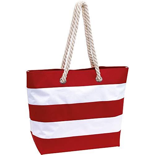 Topico Strandtasche Sylt, rot/weiß