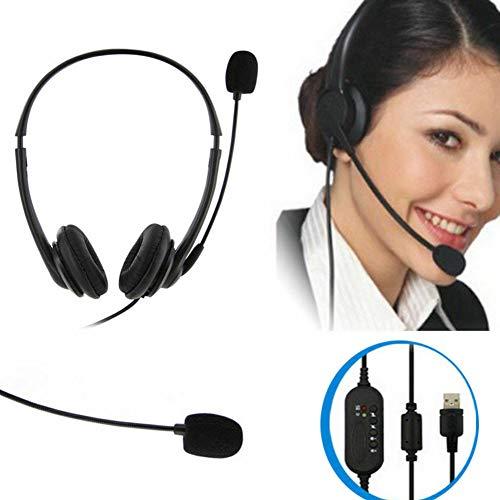 TXYFYP Mikrofon-Headset, 360 Drehbares Headset Mikrofon Call Center USB-Anschluss Ergonomische Geräuschunterdrückung