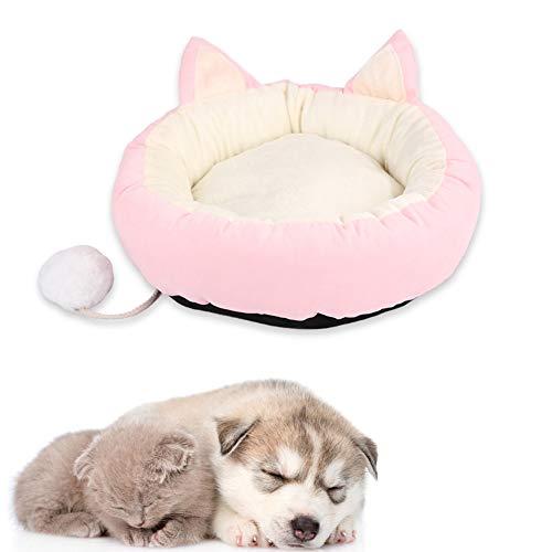 WESEEDOO hundebetten katzenbett Hundekissen Hundekomfortbett Plüsch Hundebett Günstige Hundebetten Ovales Hundebett Warmes Hundebett Haustierbetten Für Katzen pink,m