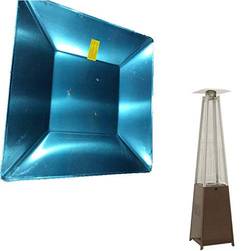 MBEN Reemplazo del Escudo de Calor Universal de 4 Lados, el reemplazo del Protector del Calentador del Patio de la pirámide para el Calentador,Hole Distance: 8cm