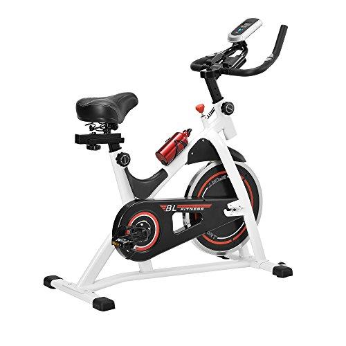 in.tec Heimtrainer Fahrrad Fitness Bike Trimmrad Indoor Cycling Rad Sattel Fitnessgerät