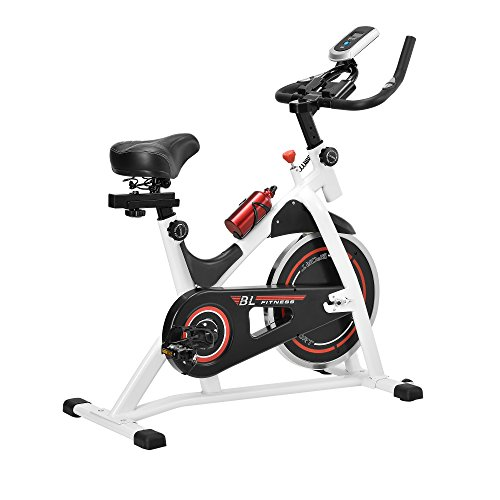 [in.tec] Heimtrainer/Fitness Bike/Indoor Cycling Rad - Weiss - Fitnessgerät
