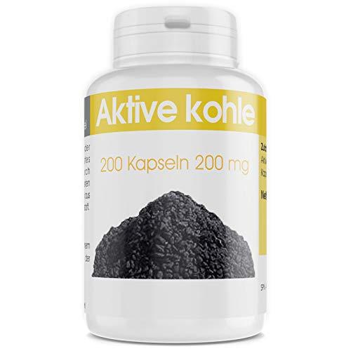 Aktive Kohle - 200mg - 200 Kapseln