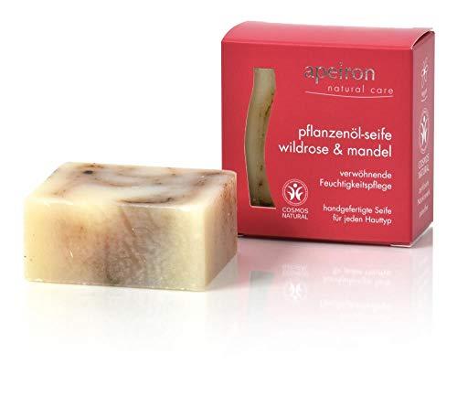 Apeiron Natural Care Pflanzenöl Seife Wildrose und Mandel 100 Gramm