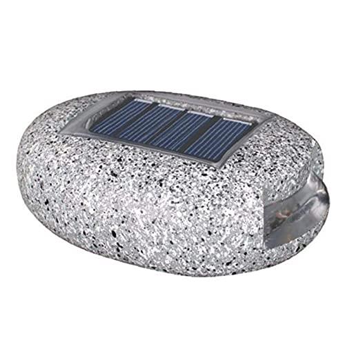 MJJLT Juego De Luces Solares De Roca, 2 Piezas De Luz Solar De Resina con Forma De Roca para Jardín, En Forma De Piedra, Iluminación LED Impermeable, Lámpara De Césped para Decoración