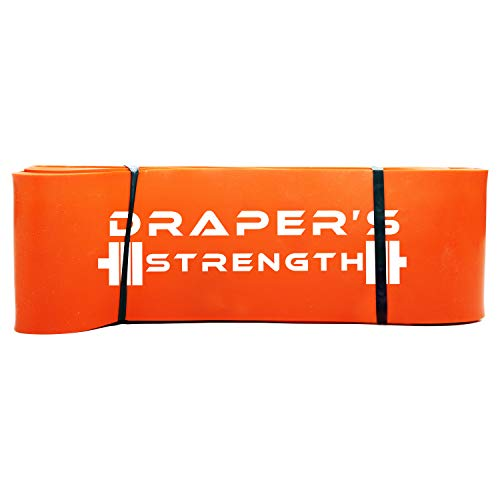 Draper's Strength Heavy Duty Pull Up Assist and Powerlifting Stretch Bands (Single Band or Set) 41-inch #7 Orange (70-175 lbs) 3-1/4' x 41' Long