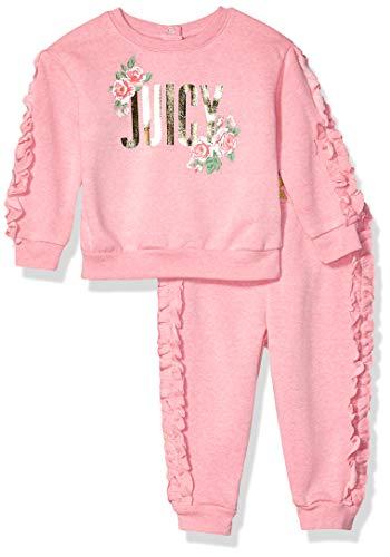 Juicy Couture Ensemble de jogging 2 pièces pour bébé fille - Rose - 12 mois