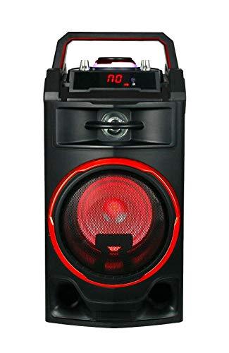 Altavoz PORTATIL Recargable Karaoke MICROFONO Incluido Colores 25W Garantia (Rojo)