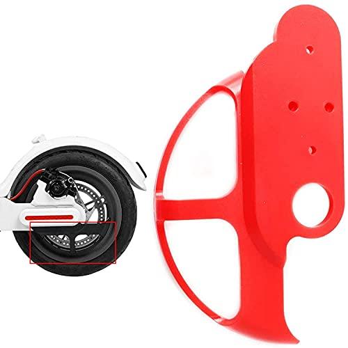 Vestigia - Cubierta de Disco del Freno para Xiaomi M365 1S Pro Scooter eléctrico - Protección Scooter - Piezas de Repuesto para E-Scooter (Rojo)