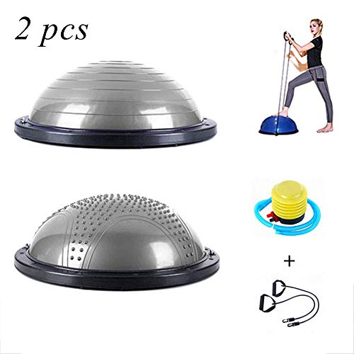Why Should You Buy Cajolg DZVXZ Exercise Ball with Accessories Two Yoga Half Ball Balance Balance Tr...