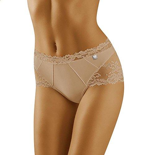 Wolbar Damen Shorts 3515 Limited Edition Diamant, Beige,Large