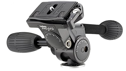 Velbon PHD-54Q - Accesorio para trípode (Negro, 700 g, Magnesio)