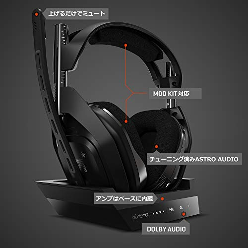 ASTROGaming『Wirelessゲーミングヘッドセット(A50)+BASESTATION』