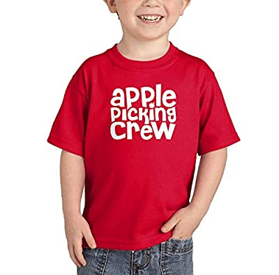 Apple Picking Crew - Orchard Autumn Infant/Toddler Cotton Jersey T-Shirt (Red, 4T)