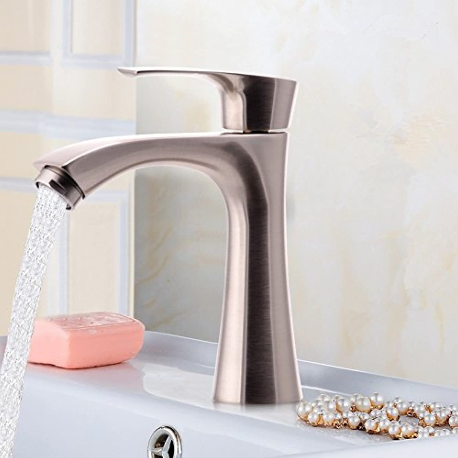 ETERNAL QUALITY Bathroom Sink Basin Tap Brass Mixer Tap Washroom Mixer Faucet Single cold basin faucet 304 Stainless steel single cold basin tap the up or down on a vanit