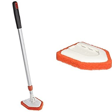 OXO Good Grips Extendable Tub and Tile Scrubber & OXO Good Grips Tub and Tile Scrubber Refill