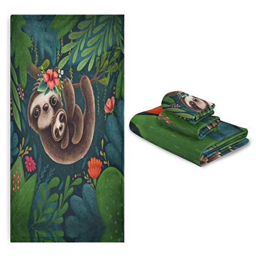 3-Piece Sloth Towel Set