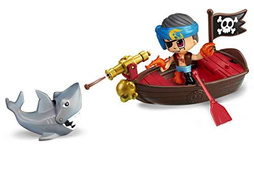 Pinypon Action  Bote pirata con 2 figuras