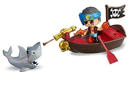 Pinypon Action- Bote pirata con 2 figuras para niños y niñas a partir de 4 a 8 años, (Famosa 700015587)