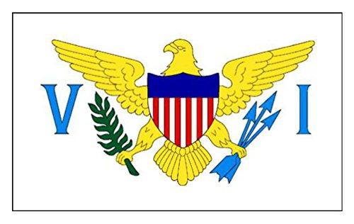 Îles Vierges (US) Drapeau 5Ft X 3ft