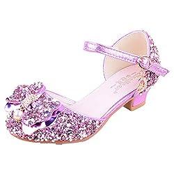 02 Purple Sparkle Mary Janes Low Heel Sandals