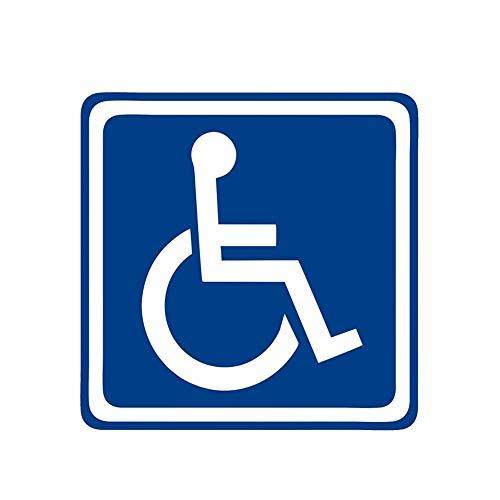 Fashion Car Sticker Behindertenschild Behinderung Mobilitätszubehör Aufkleber für Seat Leon Polo, 12cm * 12cm