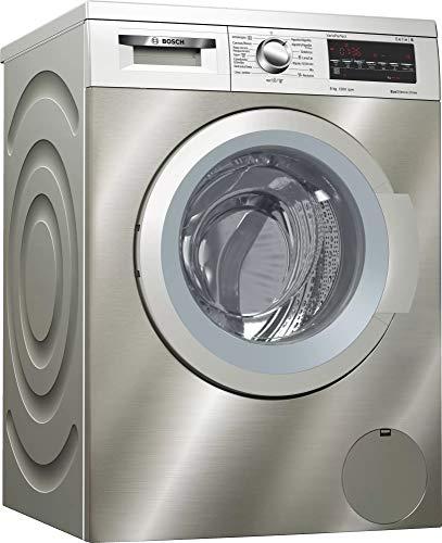 Bosch Lavadora WUQ2448XES 8KG 1200 INOX A+++q, 58 litros, 74 Decibelios, Acero inoxidable