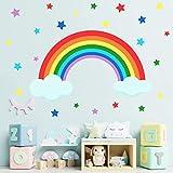 Zoom IMG-1 2pcs adesivo murale bambin arcobaleno