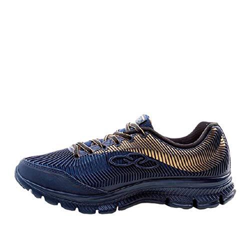 Olympikus Calçado para Caminhada Proof Masculino, 42, Marinho/Dourado