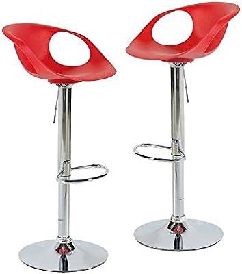 Alpisedia Jazz - Taburete de Bar, plástico, Rojo, 45 x 42 x 78 cm