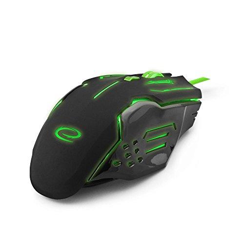 Esperanza Apache Gaming Maus Mit 6 Tasten USB Wired Mäuse Für Pro Gamer PC Computer Maus Optische Maus Grün