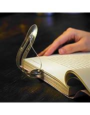 Dos Piezas Creativo Mini Portátil Luz de Marcador Led Libros Luz para Leer 0.25 Mm Ultra Delgado Protección Del Medio Ambiente Proteger la Vista Lámpara de Mesa/blanco/Paridad