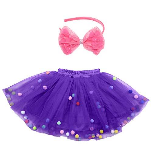 Tütü für Kinder Party Geburtstag lila Prinzessin Tutu Tanzröcke Rock Fee Kostüm für Mädchen Alter 4-8 Jahre (Lila)