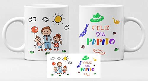 Desconocido Taza de cerámica felicidades Papa. Día del Padre, Feliz día Papito Dibujos