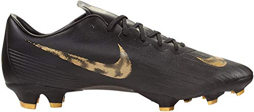 Nike Men'S Nike Vapor 12 Pro (Fg) Firm-G - black/mtlc vivid gold, Größe:10.5