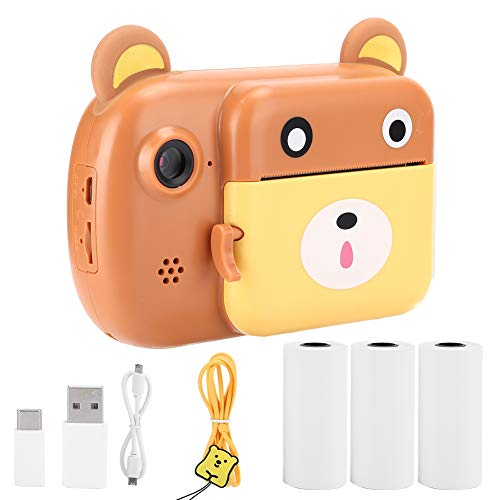 Mini-Kamera, DIY-Kamera, Graffiti, 2400 W, Pixel, Dual-Objektiv, automatische Dimmung, für Kinder, Blau